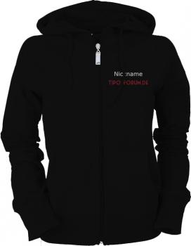 Tipo-Forum.de Ladies Hooded Jacket schwarz/weiß