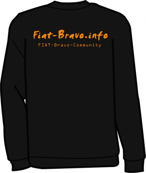 Fiat Bravo.info Sweater schwarzorange