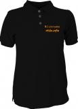 stilo.info Polo-Girly-Shirt schwarz/orange