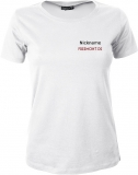 Freemont.de Girly-Shirt weiß/schwarz/rot