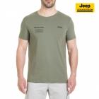 New-Jeep-Forum.de T-Shirt (Deep Lichen/Dark Grey) mit Vertikalem Sternenbanner auf der Rückseite J7S