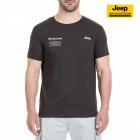 New-Jeep-Forum.de T-Shirt (Carbon Brown/Light Grey) mit Vertikalem Sternenbanner auf der Rückseite J7S