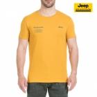 New-Jeep-Forum.de T-Shirt (Golden Yellow/Deep Lichen) mit Vertikalem Sternenbanner auf der Rückseite J7S