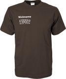 NJF.FUN T-Shirt (Brown/white)