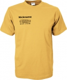 NJF.FUN T-Shirt (Gold Yellow/black)