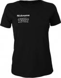 NJF.FUN Girly-Shirt (Black/white)