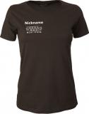 NJF.FUN Girly-Shirt (Brown/white)