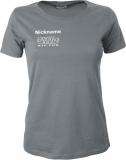 NJF.FUN Girly-Shirt (Dark Grey/white)