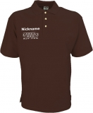 NJF.FUN Poloshirt (Brown/white)