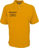 NJF.FUN Poloshirt (Gold Yellow/black)
