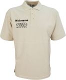 NJF.FUN Poloshirt (Stone/black)