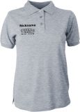 NJF.FUN Polo-Girly-Shirt (Grey-Heather/black)