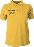 NJF.FUN Polo-Girly-Shirt (Gold Yellow/black)