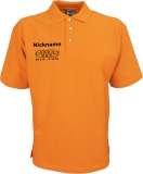 NJF.FUN Poloshirt (Orange/black)