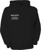 NJF.FUN Hooded Sweater (Black/white)