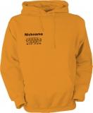 NJF.FUN Hooded Sweater (Orange/black)