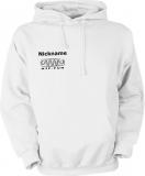 NJF.FUN Hooded Sweater (White/black)