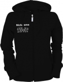 NJF.FUN Ladies Hooded Jacket (Black/white)