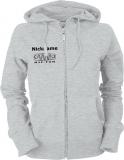 NJF.FUN Ladies Hooded Jacket (Grey Heather/black)