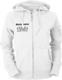 NJF.FUN Ladies Hooded Jacket (White/black)